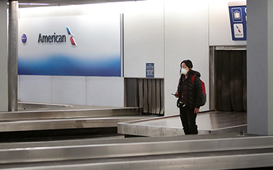Empty Airport during Coronavirus outbreak