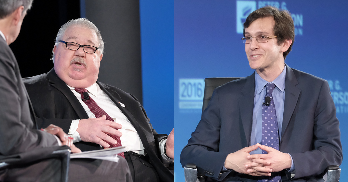 Sam Clovis, national co-chair and chief policy advisor to Donald J. Trump for president, and David Kamin, economic policy advisor to Hillary for America