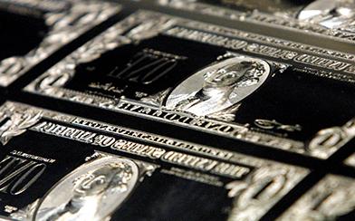 Dollar printing plate