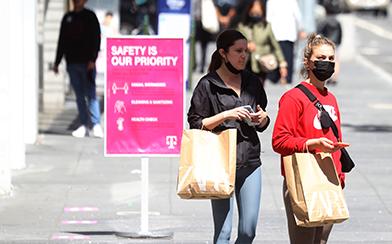 Shopping during coronavirus pandemic