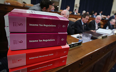 Members participate in House Ways and Means Committee markup of the Republicans tax reform plan titled the Tax Cuts and Jobs Act., on Capitol Hill November 9, 2017 in Washington, DC