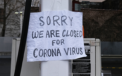Business closed for coronavirus in Queens, New York
