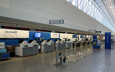 Empty airport during coronavirus pandemic