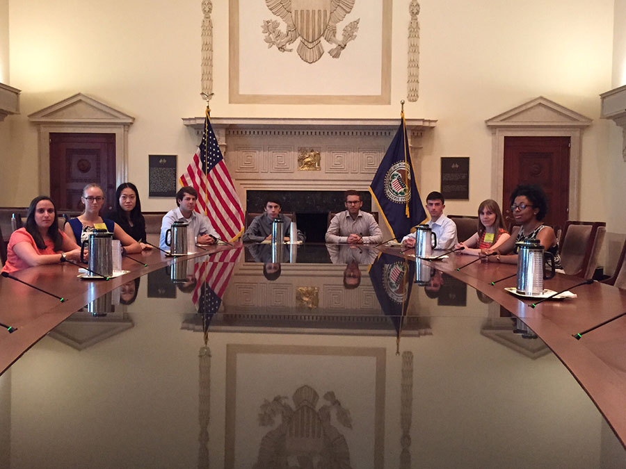 Summer 2015 PGPF Fiscal Interns At The Federal Reserve Board Of Governors