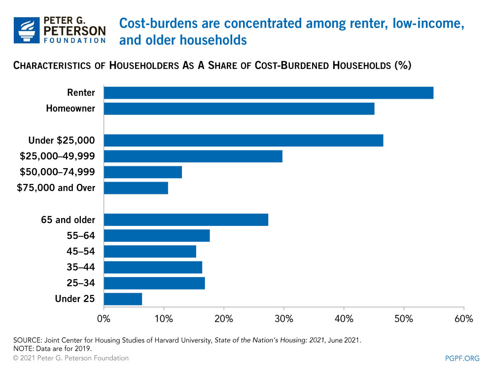 Cost-burdens are concentrated among renter, low-income, and older households