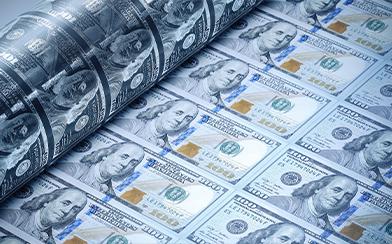 U.S. money printing