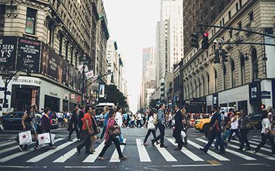 Street scene New York City