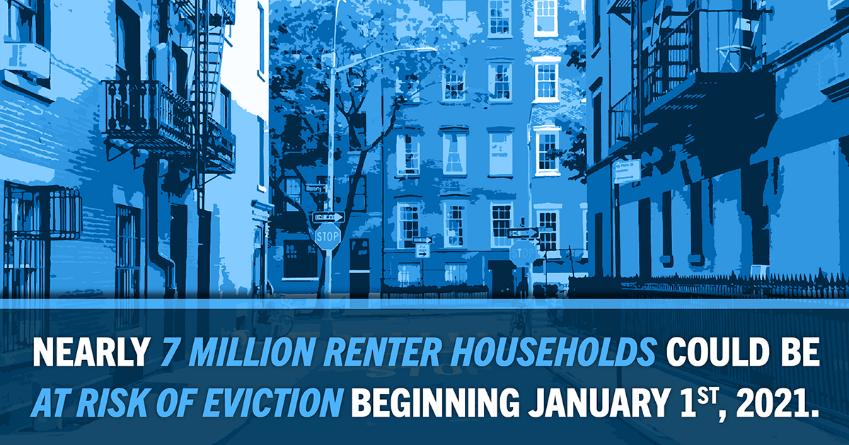 Nearly 7 million renter households could be at risk of eviction beginning January 1st, 2020.