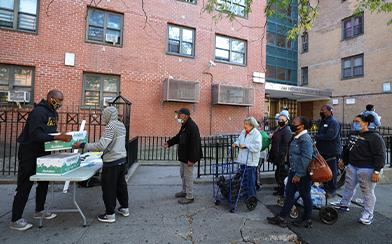 Food drive in Harlem, New York