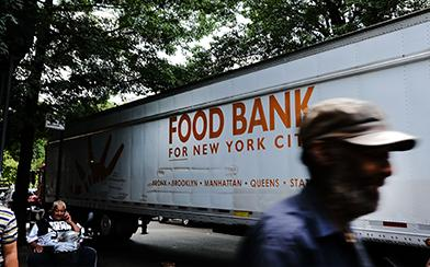 food bank truck new york city